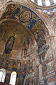 Georgia Gelati monastery Church of Virgin the Blessed Arc de Triomphe mural south side.jpg