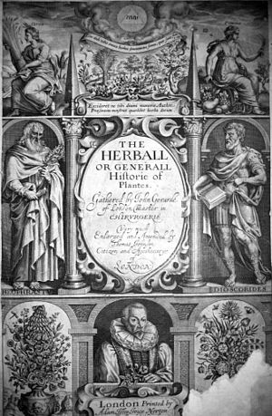 Thomas Johnson (botanist) - Title page of Johnson's 1633 edition of Gerard's Herball