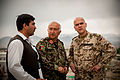 German air force Brig. Gen. Gunter Katz, right, an International Security Assistance Force spokesman, surveys the grounds at the Afghan National Defense University (ANDU) in Kabul, Afghanistan, May 7, 2013 130507-F-OF869-001.jpg