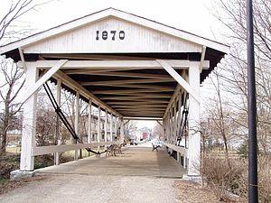 Germantown, Ohio - Germantown Covered Bridge, east of downtown