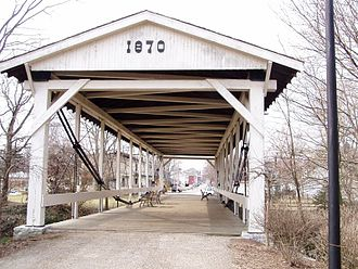 Germantown, Ohio - Germantown Covered Bridge, east of downtown