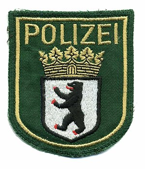 Embroidered patch - German police patch