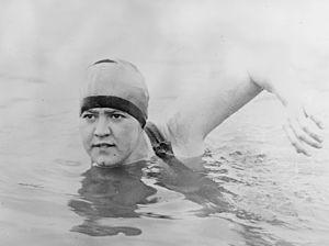 Gertrude Ederle (1905 – 2003), American compet...