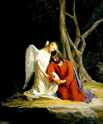 イエスを慰める天使、カール・ハインリッヒ・ブロッホ著、1865年-1879年