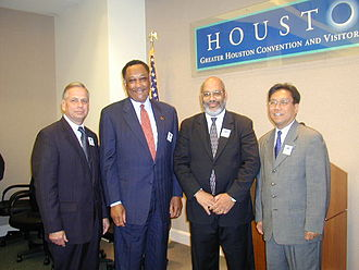 Gene Green - Gene Green, former Houston mayor Lee P. Brown, and others