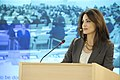 Ghida Fakhry Moderating at Human Rights Day 2013.jpg