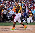 Giancarlo Stanton competes in semis of '16 T-Mobile -HRDerby. (28468361092).jpg