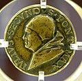 Giancristoforo romano (ambito), medaglia di giulio II col cortile del belvedere, 1503-13 ca. 01.jpg
