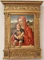 Giovanni bellini, madonna col bambino in piedi su un parapetto.JPG