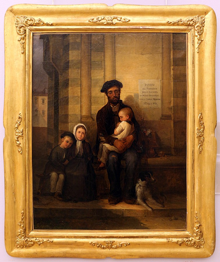 L'artigiano cieco e la sua famiglia