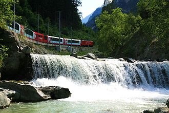 Mattertal - The Glacier Express along the Matter Vispa