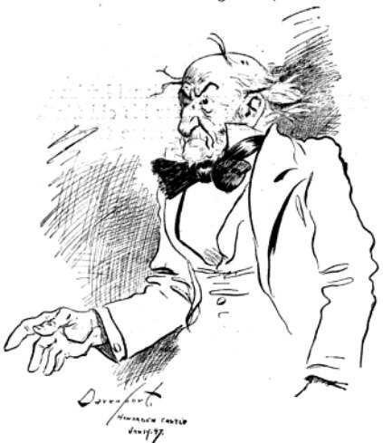 Davenport cartoon of William Gladstone, 1897