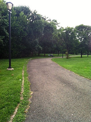Glenmont, Maryland - The Glenmont Greenway Urban Park in August 2013.