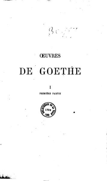 File:Goethe - Œuvres, trad. Porchat, tome I.djvu