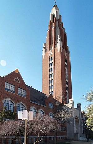 Oklahoma City University - Gold Star Memorial Building (Law Library), an Oklahoma landmark