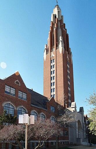 Oklahoma City University - Gold Star Memorial Building (Law Library), an Oklahoma landmark