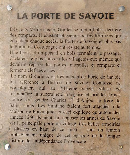 File:Gordes 2013-Porte de Savoie pancarte.jpg