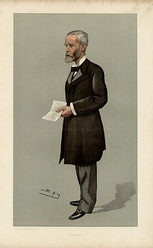 Gordon Sprigg - Drawing of John Gordon Sprigg as Prime Minister in September 1897