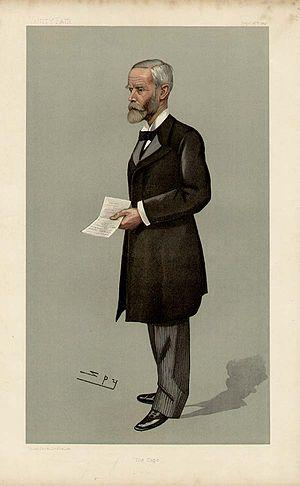 Gordon Sprigg - Drawing of John Gordon Sprigg as Prime Minister in September 1897