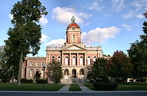 Elkhart County courthouse in Goshen, Indiana