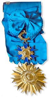Ordre national du Mérite Order of State with membership awarded by the President of the French Republic