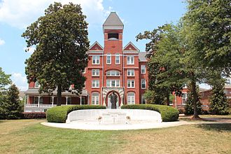 Morehouse College - Graves Hall, Century Campus, and Mays' Tomb.