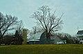 Gray Colored Barn a Silo - panoramio.jpg