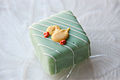 Green Easter petits fours with duck decoration.jpg