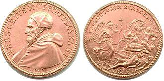 Pope Gregory XIII - Strages Ugonottorum medal