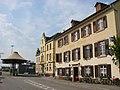 Grenzach-Wyhlen, Grenzübergang Grenzacher Horn, Altes Zollamt und Gasthaus Waldhorn, Blick von Deutschland Richtung Schweiz.jpg