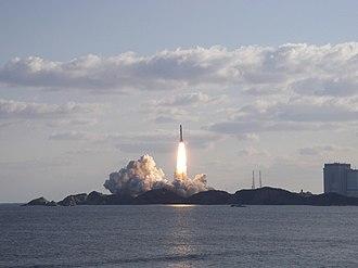 Tanegashima - The H-IIA F11 launch vehicle lifting off from Tanegashima Space Center