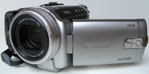 Canon HG10 high defenition video camera with h...