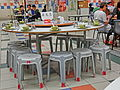 HK 上環 Sheung Wan 棟記 Tung Kee Restaurant night one set chairs Nov-2013.JPG
