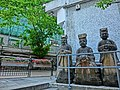 HK Sheung Wan 美輪街 Mee Lun Street stone sculptures view Hollywood Road Banyan trees Mar-2013.JPG