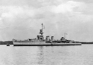 Red Sea Flotilla - HMS Capetown, which was disabled by Italian motor torpedo boat MAS 213
