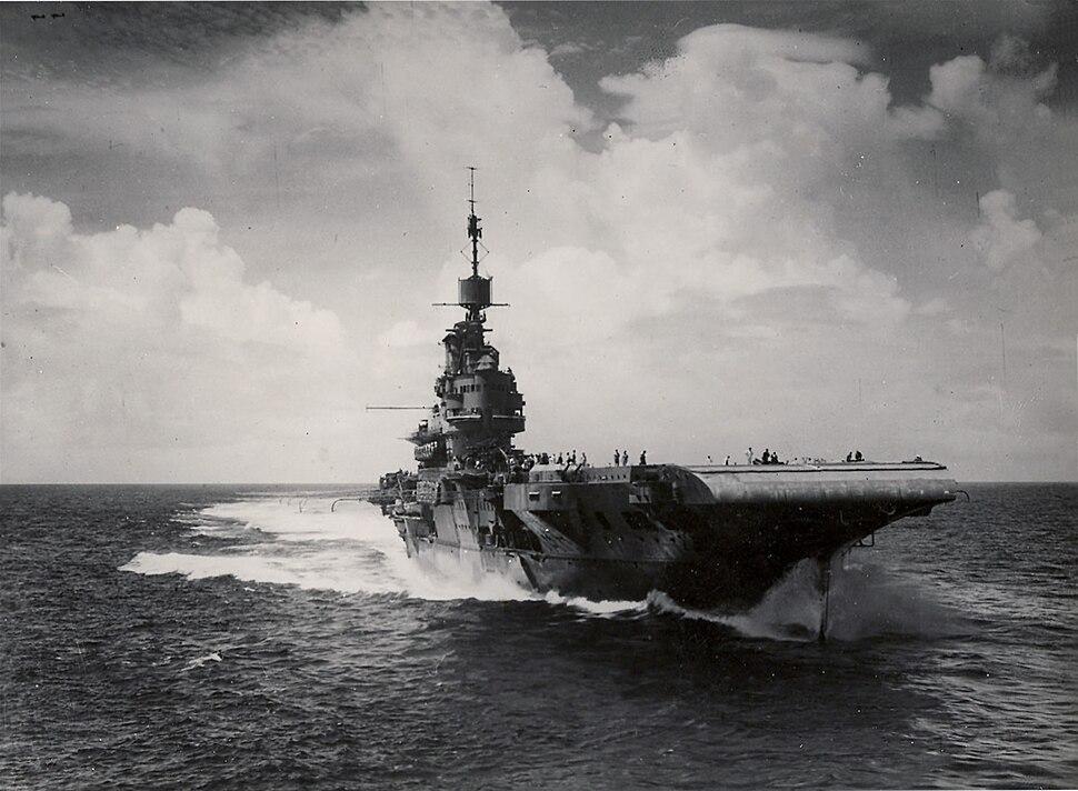 HMS Illustrious bow 1944