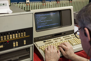 HP 2640 block-mode serial terminals produced by Hewlett-Packard using the Intel 8008 and 8080 microprocessors