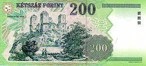 A vár a 200 forintoson