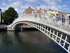 Ha'penny Bridge - Location of the Ha'penny Bridge in Ireland