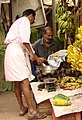 Half Bananas for Sale at Market - Trivandrum - Kerala - India.jpg