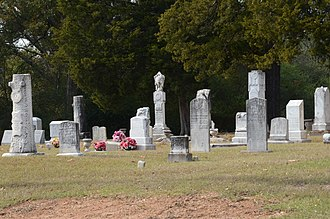 National Register of Historic Places listings in Calhoun County, Arkansas - Image: Hampton Cemetery, 1 of 4