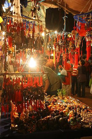 A handicraft shop in Delhi-India