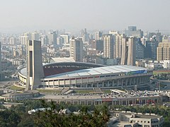 Yellow Dragon Stadium w Hangzhou