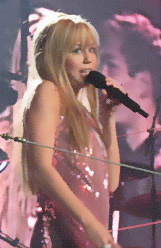 Miley Stewart - Miley Cyrus as Hannah Montana during the Best of Both Worlds Tour.