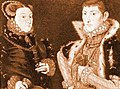 Hans Eworth, Portrait of Mary Neville and her son Gregory Fiennes (1559) - 02.jpg