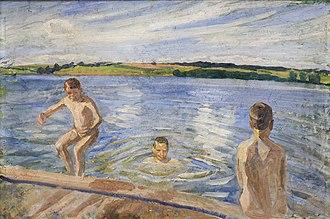 Peter Hansen (painter) - Image: Hansen Badende drenge 1902