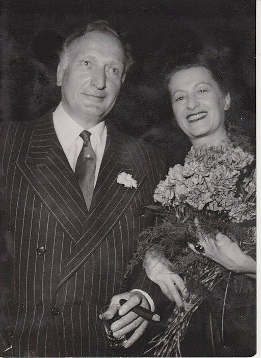 Hansi Burg und Hans Albers Zürich 1947