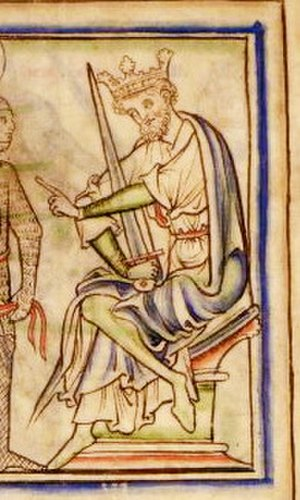 Harold Harefoot - Harold Harefoot in the 13th century The Life of King Edward the Confessor by Matthew Paris