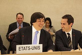 Dan Baer - Harold Hongju Koh and Daniel Baer at the Human Rights Council.