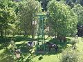 Harribeltzaga izeneko tokia, bertan Bizkaiko hiru udalerriren arteko muga zehazten duen mugarria dago, Urtuella, Galdames eta Abanto Zierbena, hain zuzen ere. 2015-06-23.jpg